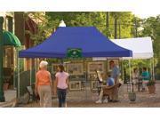 ShelterLogic 22551 10x15 ST Pop-up Canopy, Blue Cover, Black Roller Bag