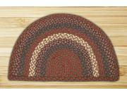 Image of Capitol Importing 32-SM040 Burgundy-Gray - 18 in. x 29 in. Small Rug Slice
