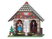 River City Cuckoo 1022-05 German Weatherhouse with Man and Woman, Tree, and Mushroom