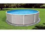 Blue Wave NB2501 Belize 12' Round 48'' Steel Pool with 6'' Top Rail