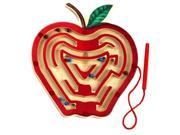 Anatex Kids Educational Skill Development Magnetic Apple Toys Wood Puzzle Maze