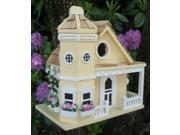 Home Bazaar Flower Pot Cottage Birdhouse - Yellow - HB-9095YS 9SIAD245CX9242