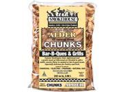 Smokehouse Products 9780-010-0000 All Natural Flavored Wood Smoking Alder Chunks, Pack Of 12