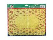 Party Dimensions 72944 10 in. x 14 in. Lace Doily Gold - 288 Per Case