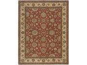 Nourison 67595 Living Treasures Area Rug Collection Rust 7 ft 6 in. x 9 ft 6 in. Rectangle