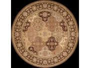 Nourison 22657 Somerset Area Rug Collection Multi Color 5 ft 6 in. x 5 ft 6 in. Round