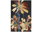 Nourison 17216 South Beach Area Rug Collection Blk 5 ft X7 ft 6 in. Rectangle