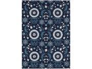 Nourison 13996 Suzani Area Rug Collection Navy 5 ft 3 in. x 7 ft 5 in. Rectangle