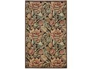 Nourison 13231 Graphic Illusions Area Rug Collection Brown 3 ft 6 in. x 5 ft 6 in. Rectangle