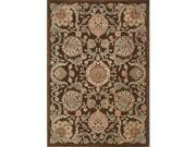 Nourison 13267 Graphic Illusions Area Rug Collection Chocolate 3 ft 6 in. x 5 ft 6 in. Rectangle