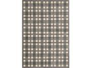 Nourison 16051 Graphic Illusions Area Rug Collection Ivory Taupe 2 ft 3 in. x 3 ft 9 in. Rectangle