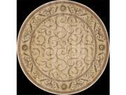 Nourison 82581 Somerset Area Rug Collection Ivory 5 ft 6 in. x 5 ft 6 in. Round