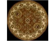 Nourison 69882 Jaipur Area Rug Collection Rust 6 ft x 6 ft Round