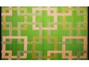 Image of Orientworks B71046011 Outdoor Rug Patio Mat - 4ft by 6ft - Squares Reversible Design in Green and Beige as Outdoor Area Rug- by b.b.begonia
