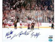 Autograph Warehouse 15798 Mark Messier, Brian Leetch & Mike Richter Autographed 8 x 10 Photo New York Rangers 1994 Stanley Cup Champions The Moment Of Victory O 9SIA00Y1N79470