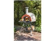 Rustic Natural Cedar Furniture 140AD60 Wood Fired Oven Red Brick Front