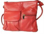 Leather in Chicago kp0092r Cowhide Leather Messenger Bag in Red