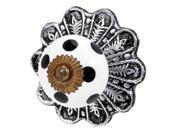 Jubilee Collection 172000 Knob - Ceramic - Black Dot on White