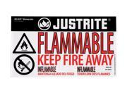 Justrite 29004 Lable Haz Alert Flammable Small