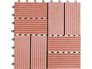 Naturesort N4-OT01 Eight Slats Bamboo Composite DIY Deck Tiles, 11 tiles
