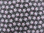 Image of Dog Collar Bandanas D073L Pirate Skulls Large Dog Collar Bandana - Pink Glitter