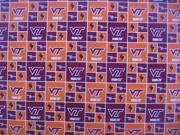 Dog Collar Bandanas CA16L Virginia Blacksburg Square Large Dog Collar Bandana