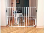 Carlson 0624DS Step Over Expandable Metal Pet Gate, Beige