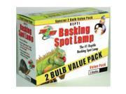 Zoo Med Laboratories Basking Spot Lamp 50 Watts 2 Pack - SL2-50
