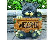 Beckett Welcome Bear Statuary 12.8X11.6X17 In Brown 7243410