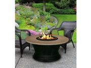 California Outdoor Concepts 7010-BK-PG2-SUN-48 San Simeon Chat Height Fire Pit-Black-Black Glass-Sunset Gold - 48 in.
