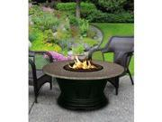 California Outdoor Concepts 7010-BK-PG10-PEB-54 San Simeon Chat Height Fire Pit-Black-Black Reflective Glass-Pebble - 54 in.