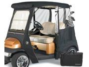 Greenline GLECCB02 2 Passenger Drivable Golf Cart Enclosure and Jet Black 106 in. L x 47.5 in. W x 62 in. H