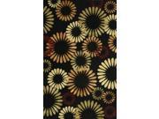 Noble House CIT411811 Citadel Black-Multi - Rug 8x11
