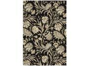 Nourison 15623 Gatsby Area Rug Collection Black 3 ft 9 in. x 5 ft 9 in. Rectangle
