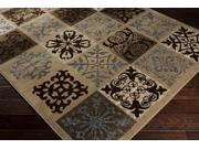 Surya Rug HAM1051-23 Rectangle Brown and Beige Accent Rug 2 x 3 ft.