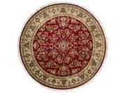 Surya Rug TJ102-8RD Round Purple and Beige Hand Knotted Area Rug 8 ft.