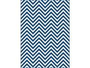 Metro 1017 Navy 7.83 ft. x 10.25 ft. Contemporary Area Rug