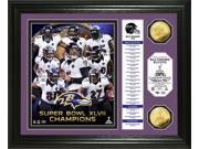 Highland Mint PHOTO5452K Baltimore Ravens Super Bowl XLVII Champions Gold Coin Banner Photo Mint 9SIA00Y1YT5088