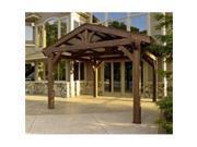 Outdoor Greatroom Company LODGE II Douglas Fir Lodge Structure in Mocha