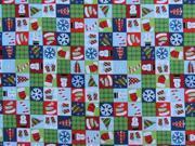 Image of DecorDogz Galore J32S Christmas Holiday Patchwork SQ Small Bandana