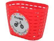 Firstbike Z5004 Attachable Red Basket With Black Straps