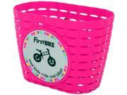 Firstbike Z5032 Attachable Pink Basket With Black Straps
