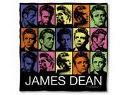 James Dean Color Block Poly 22X22 Bandana White One Size 9SIV06W2GX6411