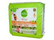 Seventh Generation B07101 Seventh Generation Baby Free And Clear Diapers Stage 4: 22-37 Lbs  -4x27ct