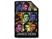 James Dean Color Block Woven Throw Tapestry 36X60 White One Size 9SIV06W2H52399