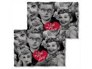 I Love Lucy Faces Poly 20X28 Pillow Case White One Size 9SIV06W2H53077