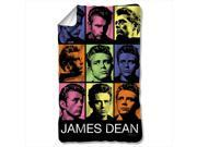 James Dean Color Block Poly 36X60 Blanket White One Size 9SIV06W2HV6954
