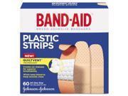Johnson & Johnson 100563500 Plastic Adhesive Bandages, 3/4 x 3, 60/Box