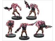 Mantic Games DZP02-1 Deadzone - Plague Troops Booster - 5 Wargame Miniatures 9SIA2CW34M7532