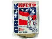 Oreck VFBU0300604 Vacuum Belts For Upright Vacuum